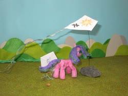 Size: 1024x769 | Tagged: safe, alternate version, artist:malte279, princess celestia, starlight glimmer, craft, inequality sign, kite, kite flying, kites, sculpture, starch foam