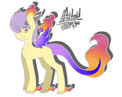Size: 5000x4000   Tagged: safe, artist:chazmazda, oc, original species, pony, colored, commission, commissions open, digital art, flat colors, floating wings, fullbody, heart eyes, horn, horns, lost soul ponies, outline, simple background, solo, soul, transparent background, wingding eyes, wings