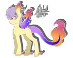 Size: 5000x4000 | Tagged: safe, artist:chazmazda, oc, original species, pony, colored, commission, commissions open, digital art, flat colors, floating wings, fullbody, heart eyes, horn, horns, lost soul ponies, outline, simple background, solo, soul, transparent background, wingding eyes, wings