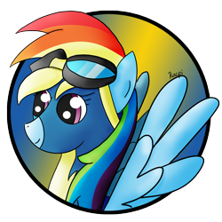 Size: 1134x1134   Tagged: safe, artist:kacpi, rainbow dash, pegasus, pony, avatar, simple background, solo, transparent background