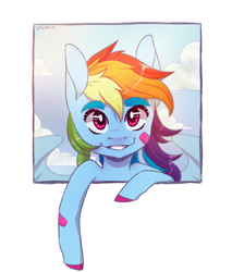 Size: 1700x2000 | Tagged: safe, alternate version, artist:silbersternenlicht, rainbow dash, pegasus, pony, simple background, solo, white background