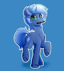 Size: 3600x4000 | Tagged: safe, artist:witchtaunter, oc, oc only, oc:paamayim nekudotayim, pony, unicorn, commission, looking at you, solo, stylus, surprised