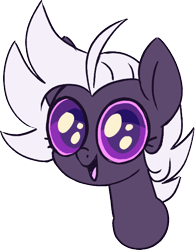 Size: 492x630 | Tagged: safe, artist:taaffeiite, derpibooru exclusive, oc, oc only, oc:cyberia starlight, earth pony, pony, adoracreepy, big eyes, bust, creepy, cute, dilated pupils, female, looking at you, mare, simple background, solo, staring into your soul, transparent background