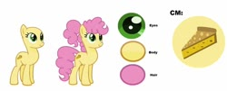 Size: 1280x515 | Tagged: safe, artist:littsandy, artist:shootingstaryt, li'l cheese, earth pony, pony, the last problem, spoiler:s09e26, base used, cutie mark, female, mare, older, older li'l cheese, reference sheet, simple background, solo, trans mare, white background