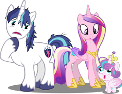 Size: 7164x5518 | Tagged: safe, artist:cyanlightning, artist:dashiesparkle, artist:spacekingofspace, artist:tardifice, edit, editor:slayerbvc, vector edit, princess cadance, princess flurry heart, shining armor, alicorn, pony, unicorn, :o, absurd resolution, accessory theft, baby, baby pony, crown, diaper, father and child, father and daughter, female, filly, foal, hoof shoes, jewelry, looking down, looking up, male, mare, messy mane, mother and child, mother and daughter, open mouth, peytral, raised hoof, regalia, royal family, simple background, stallion, stubble, transparent background, unshorn fetlocks, vector
