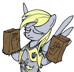 Size: 6473x6333 | Tagged: artist needed, safe, derpy hooves, pegasus, pony, /mlp/, 4chan, 4chan cup, female, football, mare, meme, pacha, safest hooves, simple background, solo, sports, transparent background, when x just right