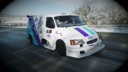 Size: 1920x1080 | Tagged: safe, artist:saturncarartz, rarity, 3d, car, ford, ford supervan 3, forza horizon, forza horizon 4, racecar, video game
