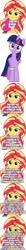 Size: 500x4732 | Tagged: safe, artist:diegator007, artist:poniiandii, edit, edited screencap, editor:lord you know who, screencap, sunset shimmer, twilight sparkle, alicorn, equestria girls, comic, coronavirus, covid-19, heartwarming, positive ponies, screencap comic, twilight sparkle (alicorn), uplifting, wisdom
