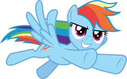 Size: 4831x3000 | Tagged: safe, artist:cloudyglow, rainbow dash, pegasus, pony, the beginning of the end, .ai available, badass, female, flying, high res, mare, simple background, solo, transparent background, vector