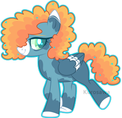Size: 2240x2168 | Tagged: safe, artist:kurosawakuro, artist:lazuli, oc, oc only, pegasus, pony, base used, female, magical lesbian spawn, mare, offspring, parent:pear butter, parent:windy whistles, simple background, transparent background, two toned wings, wings