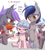 Size: 1316x1458 | Tagged: safe, artist:stoic5, cozy glow, oc, oc:echo, oc:midnight blossom, bat pony, pony, /mlp/, bat ponified, bat pony oc, bat wings, bully, bullying, cozy glow is not amused, cozybetes, cozybuse, cute, eeee, female, filly, foal, race swap, requested art, simple background, sitting, white background, wings