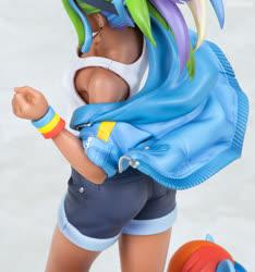 Size: 750x800 | Tagged: safe, kotobukiya, rainbow dash, human, pony, human ponidox, humanized, kotobukiya rainbow dash, self ponidox