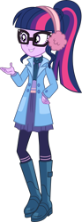Size: 2615x7030 | Tagged: safe, artist:steyrrdash, sci-twi, twilight sparkle, equestria girls, equestria girls series, holidays unwrapped, spoiler:eqg series (season 2), clothes, female, glasses, ponytail, simple background, solo, transparent background, vector, winter outfit