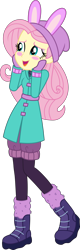 Size: 2270x7065 | Tagged: safe, artist:steyrrdash, fluttershy, equestria girls, equestria girls series, holidays unwrapped, spoiler:eqg series (season 2), clothes, simple background, solo, transparent background, vector, winter outfit
