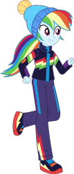 Size: 2560x5985 | Tagged: safe, artist:steyrrdash, rainbow dash, equestria girls, equestria girls series, holidays unwrapped, spoiler:eqg series (season 2), clothes, simple background, solo, transparent background, vector, winter outfit