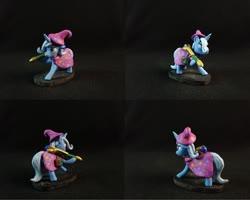 Size: 1280x1026   Tagged: safe, artist:bomzzzik, trixie, pony, unicorn, black background, craft, female, figure, irl, mare, photo, solo