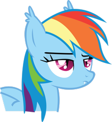 Size: 2350x2553 | Tagged: safe, artist:rainbowcrab, rainbow dash, bat pony, bat ears, bat ponified, fangs, female, race swap, rainbow dash is not amused, rainbowbat, simple background, solo, transparent background, unamused, vector