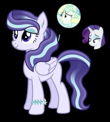 Size: 1280x1425 | Tagged: safe, artist:tenderrain46, oc, pony, unicorn, female, magical lesbian spawn, mare, offspring, parent:rarity, parent:vapor trail, simple background, transparent background