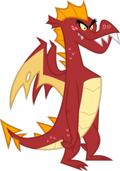 Size: 4000x5673 | Tagged: safe, artist:melisareb, garble, dragon, .svg available, absurd resolution, gameloft, inkscape, male, simple background, solo, transparent background, vector