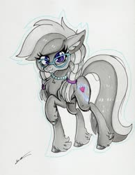 Size: 2419x3117   Tagged: safe, artist:luxiwind, silver spoon, pony, high res, older, solo, traditional art