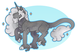 Size: 1489x1026 | Tagged: safe, artist:snootsnooter, oc, oc only, oc:pablo, classical unicorn, unicorn, cloven hooves, digital art, leonine tail, simple background, transparent background, unshorn fetlocks