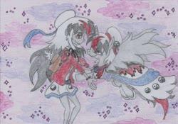 Size: 1748x1227 | Tagged: safe, artist:nephilim rider, oc, oc:heaven lost, human, pony, female, traditional art