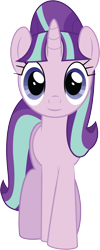 Size: 3652x9172   Tagged: safe, artist:wissle, starlight glimmer, pony, unicorn, the cutie map, absurd resolution, female, front view, looking at you, mare, s5 starlight, simple background, smiling, solo, starlight glimmer day, transparent background, vector