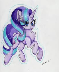 Size: 2449x2957   Tagged: safe, artist:luxiwind, starlight glimmer, high res, solo, traditional art
