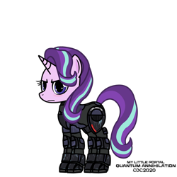 Size: 1024x1024 | Tagged: safe, artist:christiancerda, starlight glimmer, unicorn, armor, my little portal, portal (valve), simple background, transparent background, vector
