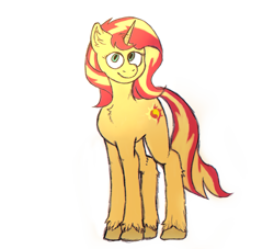 Size: 1047x951 | Tagged: safe, artist:anonymous, sunset shimmer, pony, unicorn, /mlp/, 4chan, drawthread, simple background, solo, white background