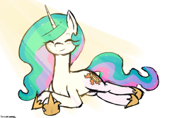 Size: 3000x2000 | Tagged: safe, artist:anonymous, princess celestia, pony, unicorn, /mlp/, 4chan, crepuscular rays, cute, drawthread, eyes closed, missing accessory, ponified, ponified animal photo, race swap, simple background, solo, transparent background, unicorn celestia