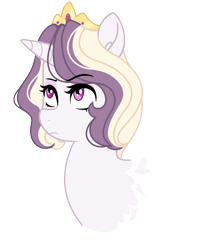 Size: 1080x1320 | Tagged: safe, artist:rosebuddity, oc, oc only, oc:athena (rosebuddity), pony, unicorn, bust, female, mare, offspring, parent:prince blueblood, parent:twilight sparkle, parents:twiblood, portrait, simple background, solo, transparent background