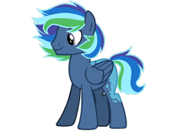 Size: 4500x3375 | Tagged: safe, artist:avatarmicheru, oc, oc:night light dash, pegasus, pony, high res, magical lesbian spawn, male, offspring, parent:princess luna, parent:rainbow dash, parents:lunadash, simple background, solo, stallion, transparent background