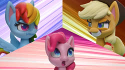 Size: 2048x1147 | Tagged: safe, screencap, applejack, pinkie pie, rainbow dash, my little pony: pony life, pillow fight (short)