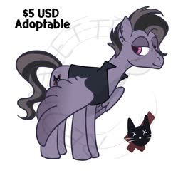 Size: 1280x1280   Tagged: safe, artist:redpalette, oc, oc only, pegasus, adoptable, clothes, emo, freckles, goth, jacket, male, punk, stallion, tall
