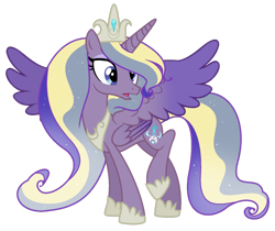 Size: 1024x859 | Tagged: safe, artist:lymamynsay11, princess cadance, princess luna, alicorn, pony, seraph, seraphicorn, female, fusion, mare, multiple wings, simple background, solo, transparent background, wings