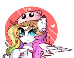 Size: 1261x1000   Tagged: safe, artist:2pandita, oc, oc only, pegasus, pony, female, letter, mare, solo