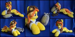Size: 2000x1000 | Tagged: safe, artist:burgunzik, spitfire, pony, bomb, bomber jacket, clothes, irl, jacket, photo, plushie, solo, weapon