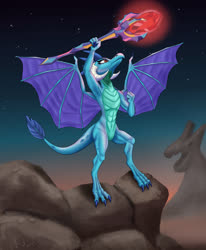 Size: 3300x4000 | Tagged: safe, artist:tauts05, princess ember, dragon, armpits, bloodstone scepter, dragon lord ember, high res, solo