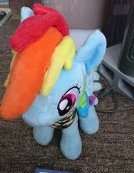 Size: 1590x2048 | Tagged: safe, artist:omegapony16, rainbow dash, pegasus, pony, 4de, camouflage, female, irl, mare, neckerchief, photo, plushie, solo