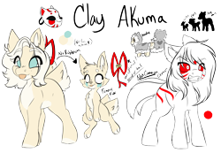Size: 4899x3387 | Tagged: safe, artist:missclaypony, oc, oc:clay, fennec fox, fox, pony, absurd resolution, female, mare, reference sheet, simple background, solo, tongue out, transparent background