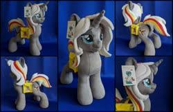 Size: 2000x1300 | Tagged: safe, artist:burgunzik, oc, oc:velvet remedy, pony, unicorn, fallout equestria, bag, female, irl, mare, photo, plushie, saddle bag, solo
