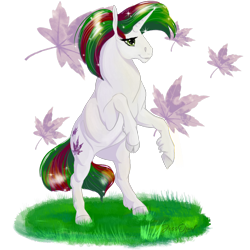 Size: 2000x2000 | Tagged: safe, artist:jessopal, gusty, pony, g1, g1 to g4, generation leap, leaf, leaves, rearing, simple background, solo, transparent background