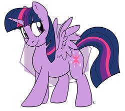 Size: 1320x1166   Tagged: safe, artist:ali-selle, twilight sparkle, alicorn, pony, cute, simple background, smiley face, solo, twilight sparkle (alicorn), white background