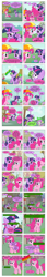 Size: 868x5056 | Tagged: safe, artist:dziadek1990, edit, edited screencap, screencap, pinkie pie, twilight sparkle, feeling pinkie keen, season 1, author avatar, boom, comic, conversation, dialogue, fourth wall, offscreen character, programming, reset, screencap comic, slice of life, soapbox, text, the matrix