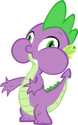 Size: 3709x5911 | Tagged: safe, artist:memnoch, spike, dragon, male, puffy cheeks, simple background, solo, transparent background, vector