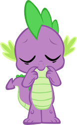Size: 3653x5884 | Tagged: safe, artist:memnoch, spike, dragon, eyes closed, male, simple background, solo, transparent background, vector