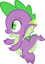 Size: 4219x6001 | Tagged: safe, artist:memnoch, spike, dragon, flying, male, simple background, solo, transparent background, vector, winged spike