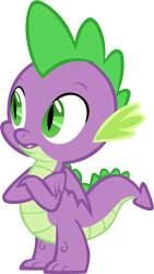 Size: 3342x5916 | Tagged: safe, artist:memnoch, spike, dragon, crossed arms, male, simple background, solo, transparent background, vector, winged spike