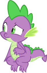 Size: 3834x5897 | Tagged: safe, artist:memnoch, spike, dragon, yakity-sax, claws, fangs, folded wings, male, raised eyebrow, simple background, slit eyes, solo, spread toes, toes, transparent background, vector, winged spike, wings